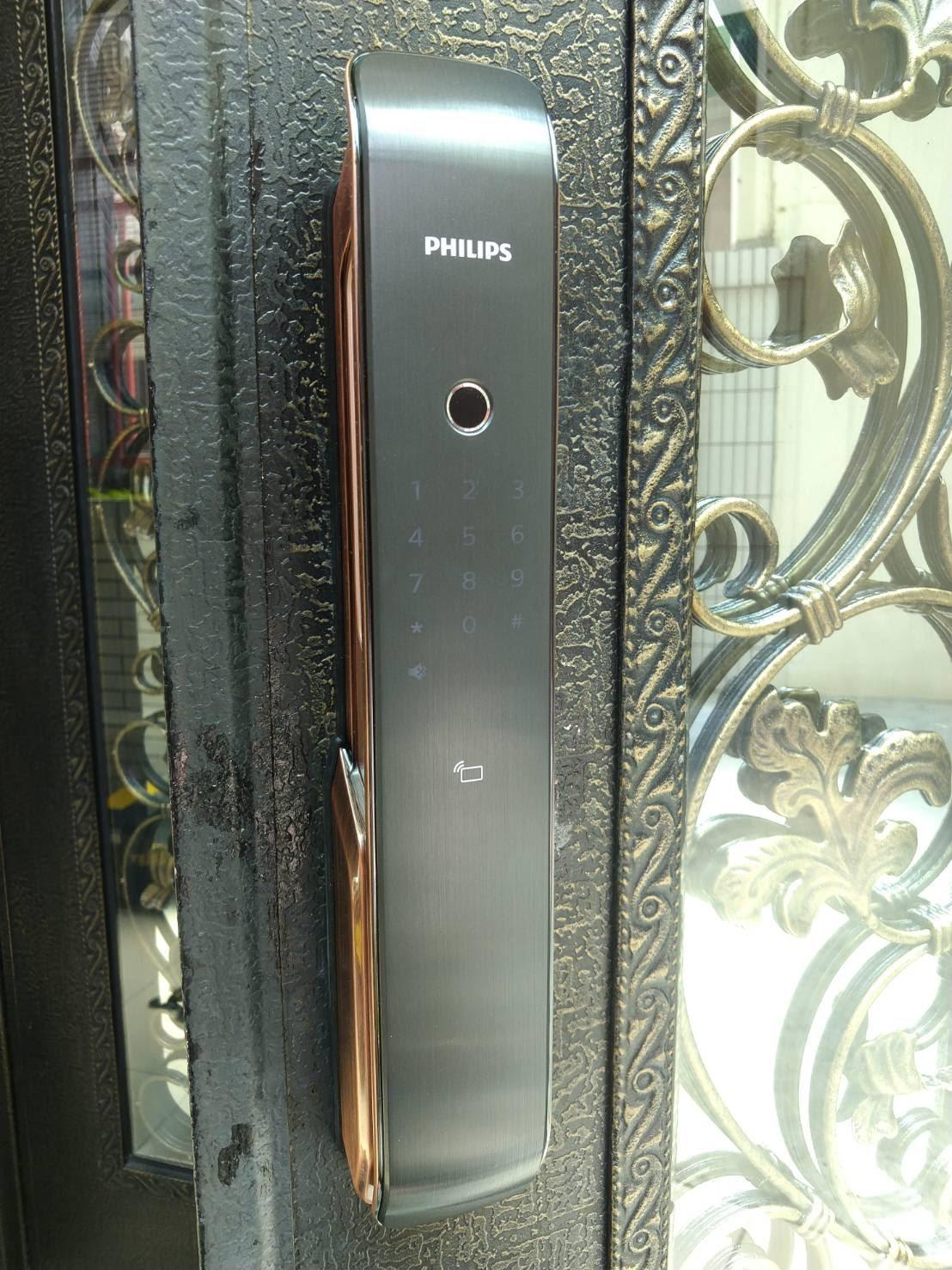 電子鎖實體安裝-9200 推拉式智能門鎖